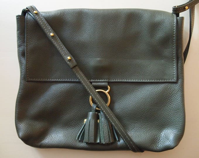 Handmade genuine leather crossbody, messenger/ leather purse