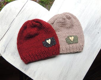 Knit Washington Beanie, Luv Beanies, Boy Hats, Girl Hats, Stocking Hats, Boy Stocking hats, Ski Hats, Washington Hats, Valentines Day