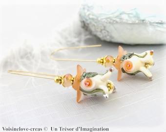 Earrings fall bells