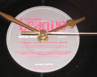 "The Human League I need your loving 7"" vinyl record clock"