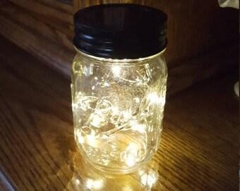 June Clearance Sale Event Mason Jar Solar Fairy Light - 10 LED Soft White Angel Lights - Firefly Lights - solar mason jar, fairy lights, mas