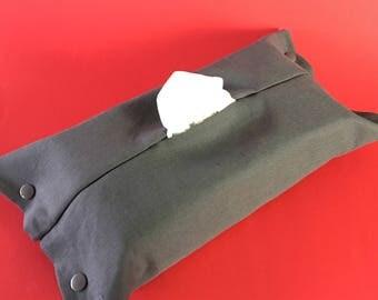 Housse pour boîte de mouchoirs de taille standard grise