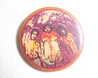 Vintage Early 70s (possibly late 60s) The Jimi Hendrix Experience - Are You Experienced Album - Pin / Button / Badge