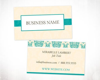 Premade Business Card Design • Elegant Floral