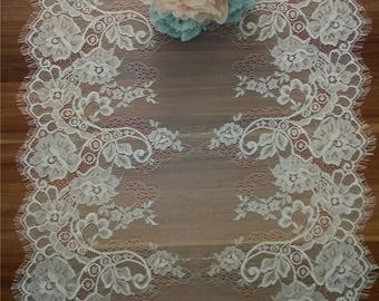 Wedding table runners, Lace table runners , 17 inches wide, Wedding Decor, Overlay, Tabletop Decor, Centerpiece,  table runners for event