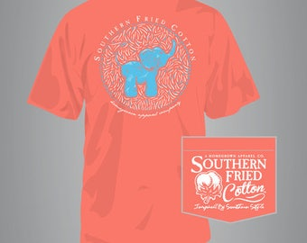Baby Elephant - Adult T-Shirt - Southern Fried Cotton