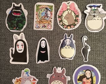 Studio Ghibli My Neighbour Totoro Spirited away Kaonashi No face luggage travel suitcase laptop 3M sticker