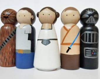Galaxy Peg Doll set