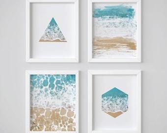 Beach Decor, Ocean Wall Art, Coastal Wall Art, Beach Prints, Seaside Decor, Coastal Print, Blue Water Print, Serene Print, Ocean Waves Print