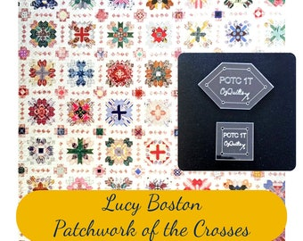 Lucy Boston Patchwork of The Crosses Patchwork Traditional Template Set in Original SIze