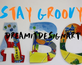 Stay Groovy Alphabet Wall Letters