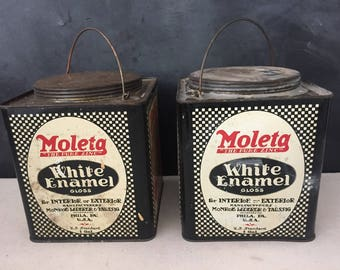 paint can vintage metal moleta paint can square 1 gallon can paint can