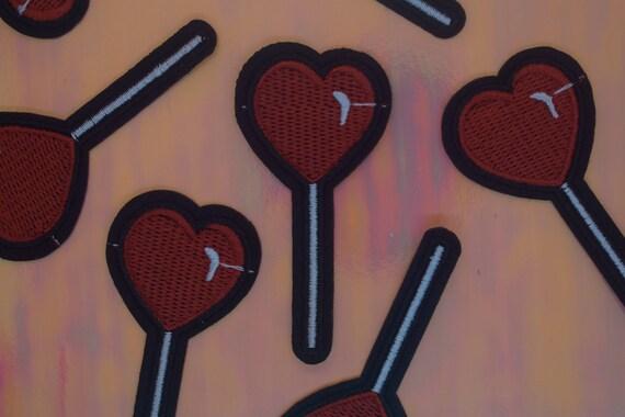 Heart Lollipop Iron on Patch