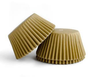 Gold Cupcake Liners // Gold Baking Cups (Qty 50)