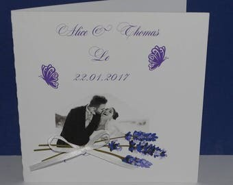 Sprig of lavender wedding invitation