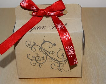 Beige and Red Christmas chocolate box