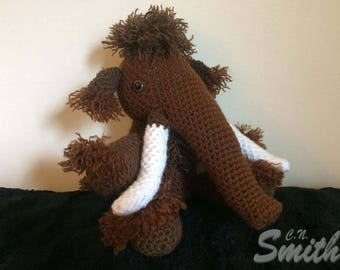 Crochet Amigurumi Pattern PDF File- Woolma the Mammoth
