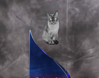 Tonkinese cat- crystal statue in the likeness of the cat.