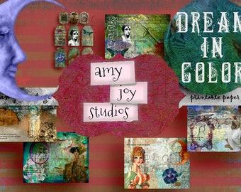 Dream in Color  Digital Journal Kit  Junk Journal Kit  Printable Junk Journal  Art Nouveau  Ephemera Pack  Vintage Journal  DIY Journal