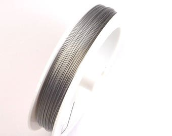 1pc Jewellery Findings Beading wire,Tiger Tail Wire Spool,nylon-coated stainless  steel,Silver,0.60mm,50m/roll-WC0001