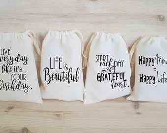 Birthday Favor Bags Birthday Party Favors Personalized Party Gift Bags Loot Bags Goodie Bags Life Motivational Positive Quotes