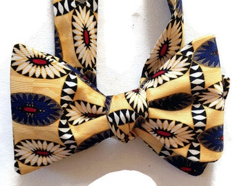 Silk Bow Tie for Men - Maverick - One-of-a-Kind, Handcrafted, Self-tie - Free Shipping