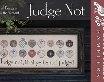 "PLUM STREET Samplers ""Judge Not"" 