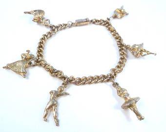 Vintage Ballerina Bracelet, Ballet Bracelet, Ballerina Charm Bracelet.