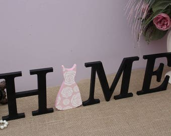 Home Letters, Home Wooden Sign, Interchangeable Letters, Mothers Day Gift, Seasonal Decor, Wood Letters, Wooden Dress, Housewarming Gift