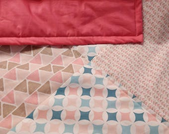 Pretty baby play rug in patchwork