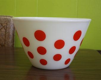 Vintage Fire King Red Dot Bowl