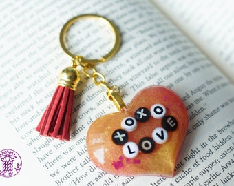 XOXO Love Glittery Keychain