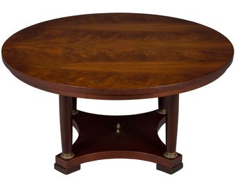 Vintage Large Round Coffee Table in Mahogany