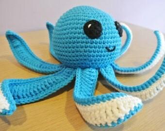 Crochet Octopus Amigurumi Keychain - Handmade Crochet Amigurumi Toy Doll - Sea Animal - Octopus Crochet - Amigurumi Octopus