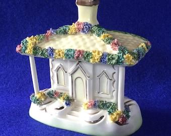 Pastille Burner Cottage Series Belvedere Ceramics Stoke On Trent England Hand Painted in Staffordshire
