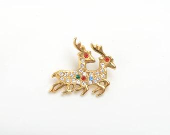 Deer lapel pin, animal lapel pin, cute pins, kawaii lapel pin, animal brooch