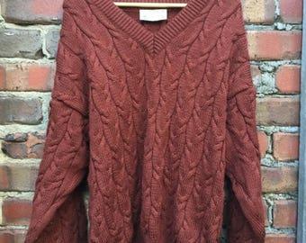 ON SALE Vintage Great Australian Sweater 100% New Wool Size XL