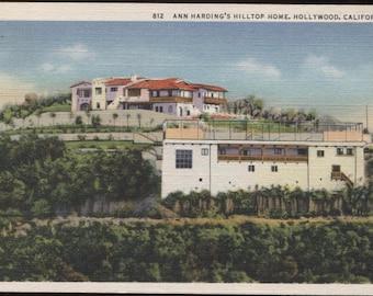 Ann Harding's Hilltop Home Hollywood California E85