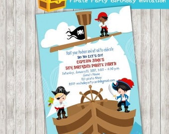 50% Off Pirate Party Birthday Invitation, Pirates Invite, Captain Party, Pirate Party, Pirate Birthday, Pirate Boys, Pirate Invitation, Birt
