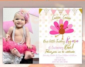 Birthday invitation one year old Etsy