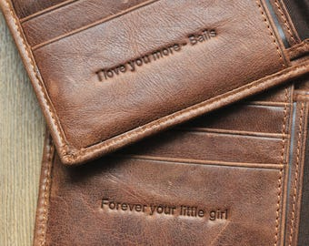 Personalized Wallet; Anniversary Gift for Men; Father's Day Gift; Xmas Gift; Graduation Gift; groomsmen gifts; Christmas Gift; Men's Wallets