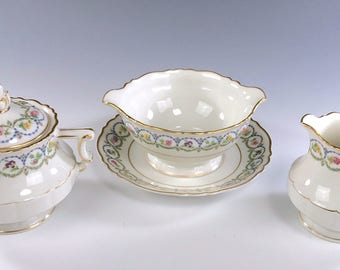 "HAVILAND ""SEVRES BLUE"" Gold Verge China 