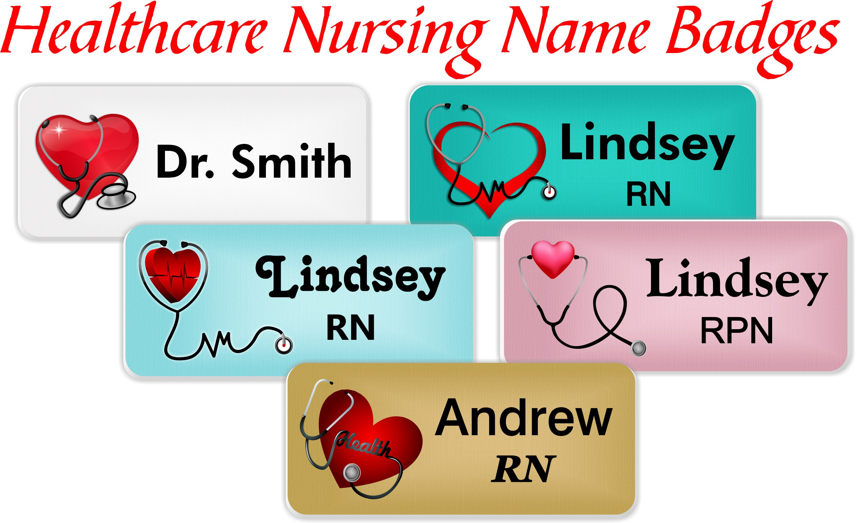 Name Badge: Healthcare Name Badge Magnetic Nursing Name Badge Magnetic