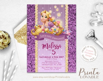 DIGITAL Rapunzel Invitation, Rapunzel Birthday Invitation, Rapunzel party, Rapunzel birthday, Rapunzel printables