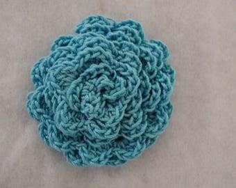 10 flowers color blue CROCHET Ø 5 cm. ref: Z34 5 A345