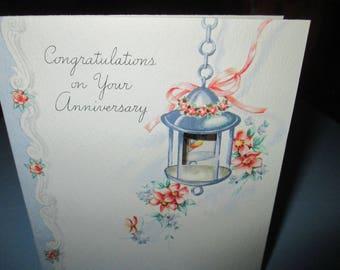 Vintage anniversary card etsy