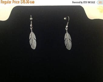 Clearance sale Feather Earrings , women , retro ,silver , fashion , birthday , dangle , ears, gift