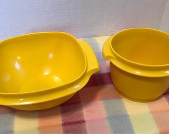 Tupperware Servalier Bowls Yellow Tupperware Servalier Bowl 886 Tupperware Servalier Bowl 840 Yellow Tupperware bowls