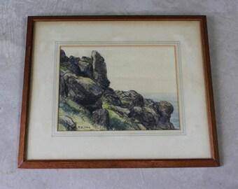 Cornish Landscape Pastel