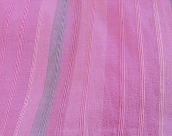 "Cotton Table Linens; 13""/17""x 59""Table Runner; 41""x 41""/ 59"" Tablecloth; Pink Striped Cotton Table Linens; Scandinavian Fabric Linens"